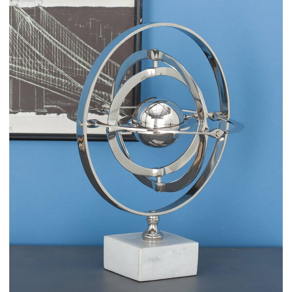 Aluminum Ceramic Armilary Sphere Sculpture by Cole & Grey