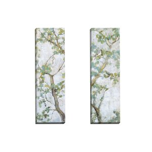 Garden Suite I by Leila 2 Piece Painting Print on Wrapped Canvas Set by Portfolio Canvas Decor