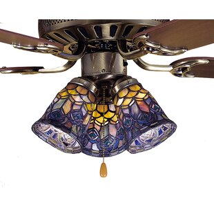 Ceiling fan fitter shades youll love wayfair tiffany 4 glass bell ceiling fan fitter shade aloadofball Images