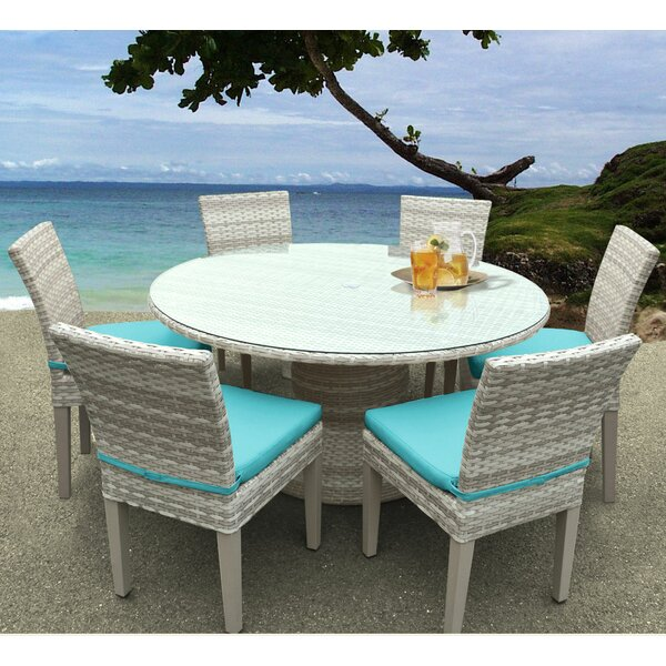 Ansonia 7 Piece Dining Set with Cushions by Rosecliff Heights