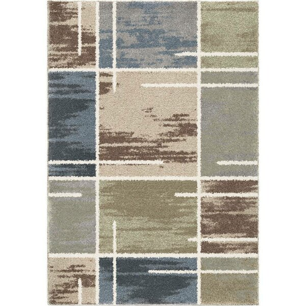 Lemmons Beige/Blue Area Rug by Red Barrel Studio