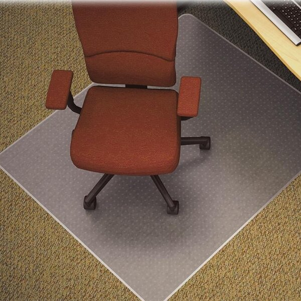 Medium/Plush Pile Carpet Beveled Edge Chair Mat by Lorell
