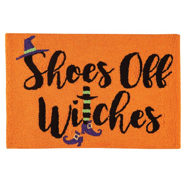 Shoes Off Witches Halloween Parfait Orange Area Rug by The Holiday Aisle
