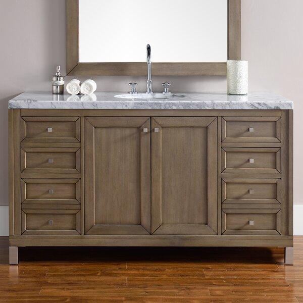 Valladares 60 Single Ceramic Sink White Washed Walnut Bathroom Vanity Set by Brayden Studio