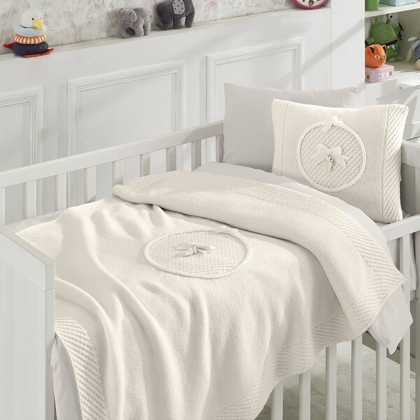 Colmesneil Bear Wool Blended 6 Piece Crib Bedding