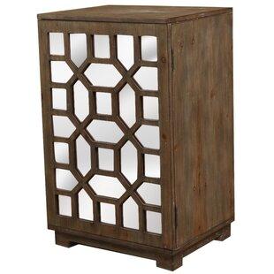 Octagon Door Wood Cabinet