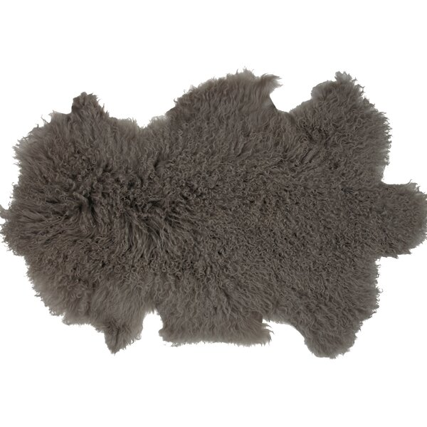 Irving Sheepskin Mongolian Gray Area Rug by Union Rustic