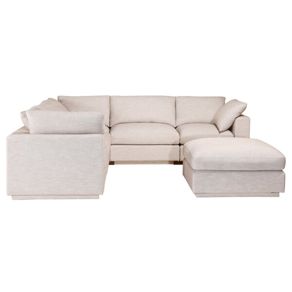 McGrath Symmetrical Modular Sectional With Ottoman By Rosecliff Heights
