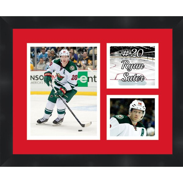 Minnesota Wild Ryan Suter 20 Photo Collage Framed Photographic Print by Frames By Mail