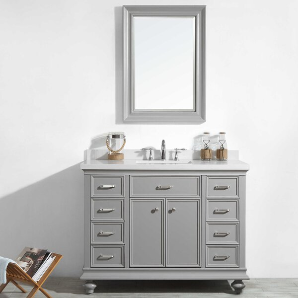 Weisner 48 Bathroom Vanity Set with Mirror by Alcott Hill