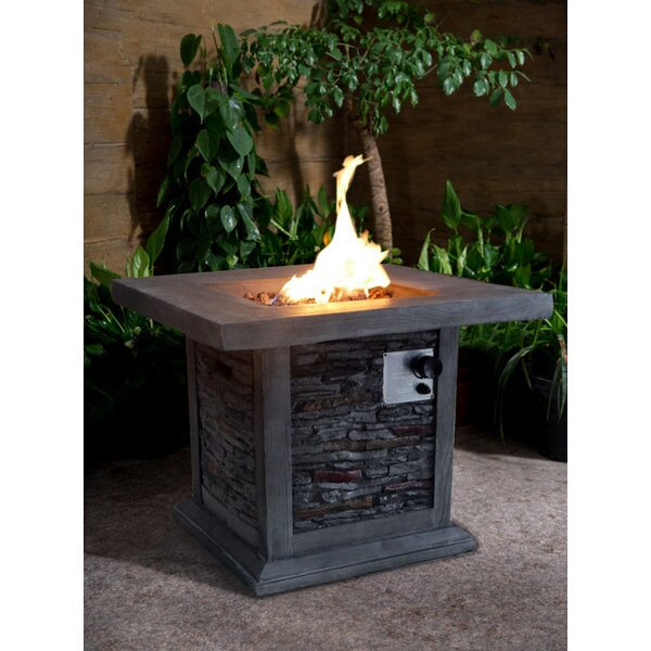 Bettine Stone Propane Fire Pit Table by Gracie Oak