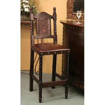 Astonishing Navarette Bar Stool Astoria Grand Finish Antique Brown Customarchery Wood Chair Design Ideas Customarcherynet