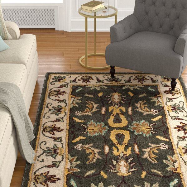 Cranmore Black/Ivory Area Rug by Charlton Home