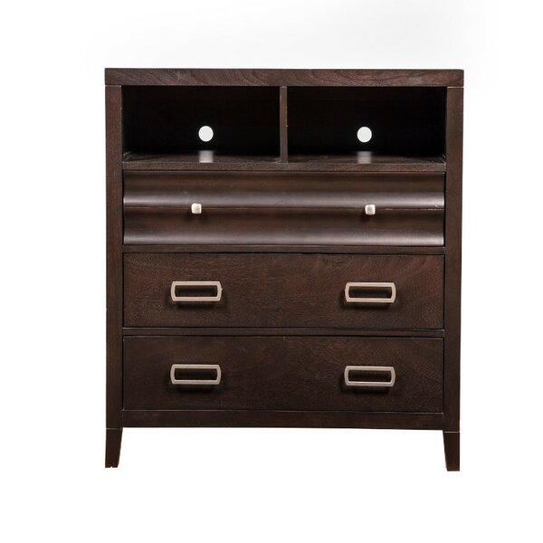 Outdoor Furniture Betterton Wooden TV 3 Drawer Media Chest