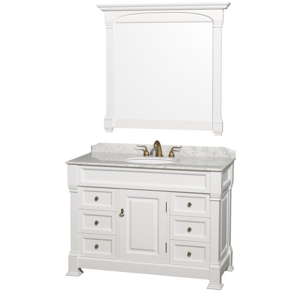 Andover 48 Single Bathroom Vanity Set with Mirror by Wyndham Collection