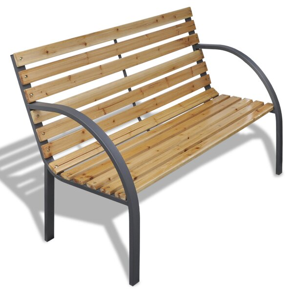 Wooden Garden Bench by Winston Porter