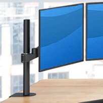TV and Monitor Articulating/Extending Arm Universal Pole Mount for 28 - 32 Screens by Best Mounting