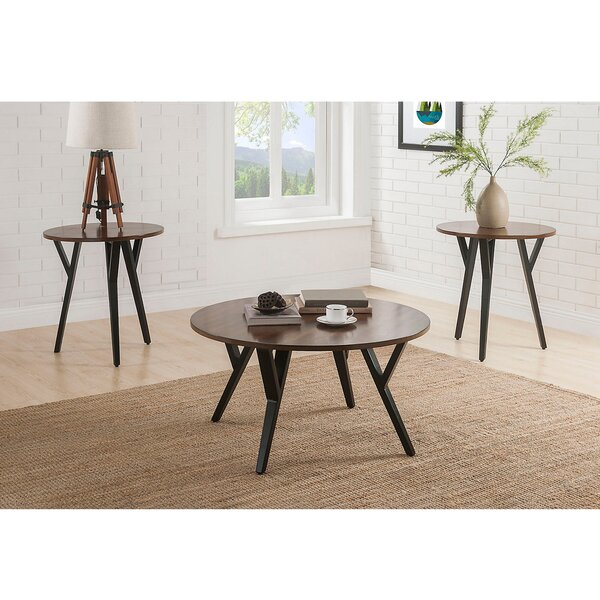 Boger Wood and Metal 3 Piece Coffee Table Set by Foundry Select Foundry Select