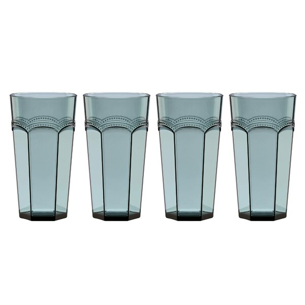 French Perle 20 oz. Acrylic Highball Glass (Set of 4) by Lenox