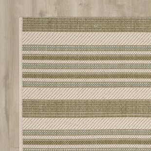 Inexpensive Octavius Beige / Green Indoor / Outdoor Area Rug By Charlton Home