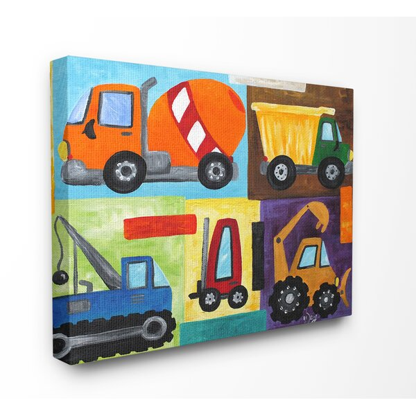 The Kids Room Construction Trucks Framed Decorative Plaque by Zoomie Kids