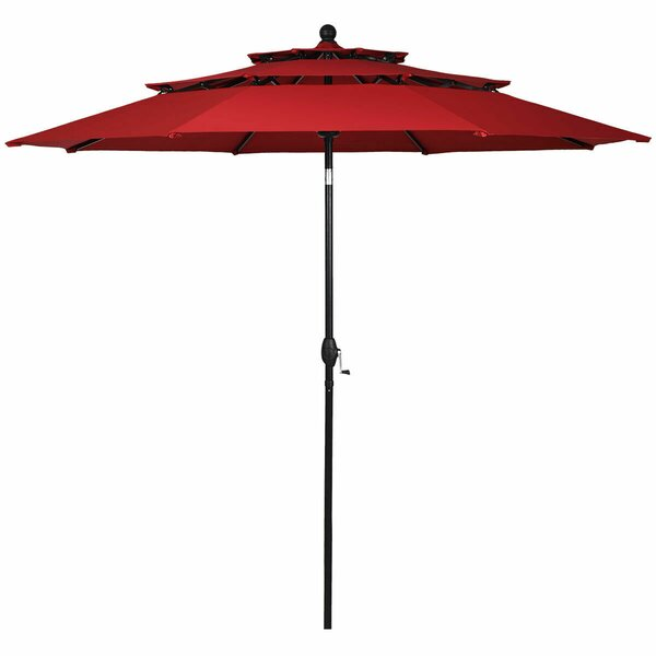 Sanna 3 Tier Patio Sunshade Shelter Beach Umbrella by Ebern Designs Ebern Designs