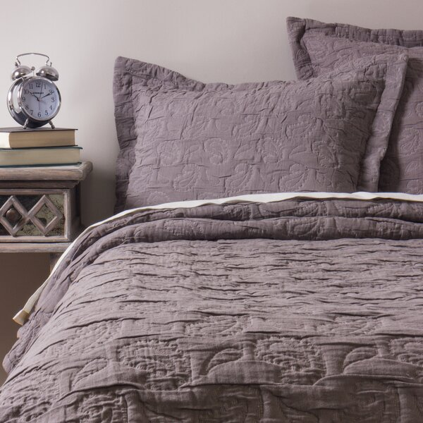 Benefiel Grey Coverlet King