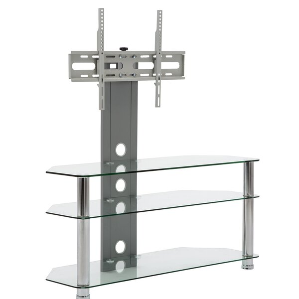 Howard Beach Glass Floor Stand Mount For TVs Up To 28