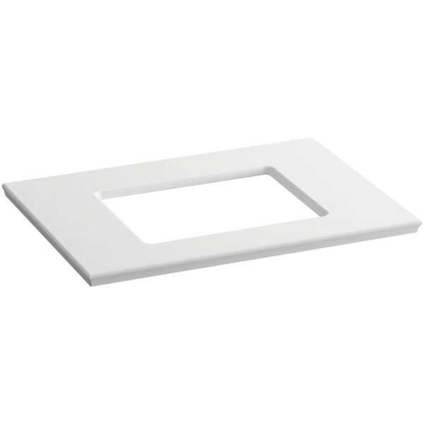 Solid/Expressions Single Verticyl Rectangular Cutout 31 Single Bathroom Vanity Top by Kohler
