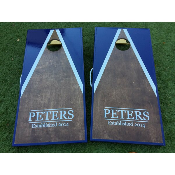 Half and Half Dark Walnut Triangle Custom 10 Piece Cornhole Set by West Georgia Cornhole