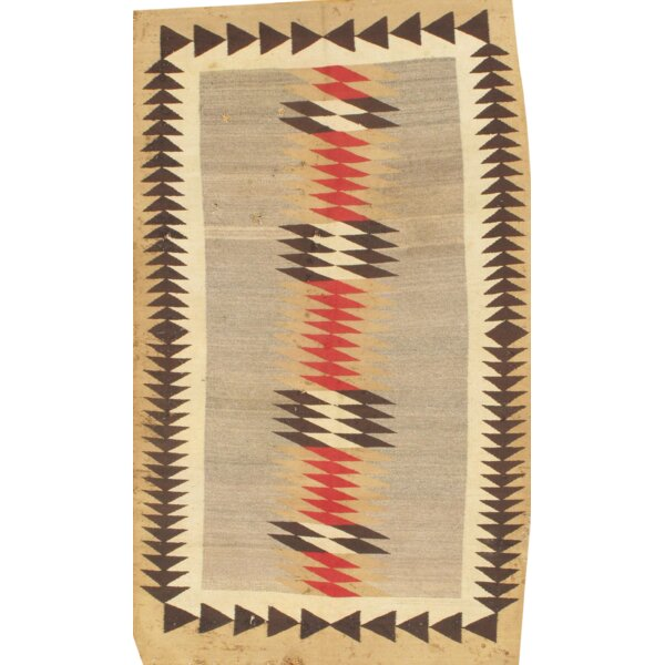 Flat Weave Reversible Hand-Knotted Wool Brown Area Rug by Pasargad NY