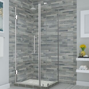 Bromley 43.25 x 72 Hinged Frameless Shower Door By Aston