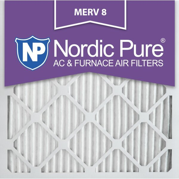 Merv 8 Dust Reduction Pleated Air Conditioner/Furnace Filter (Set of 12) by Nordic Pure