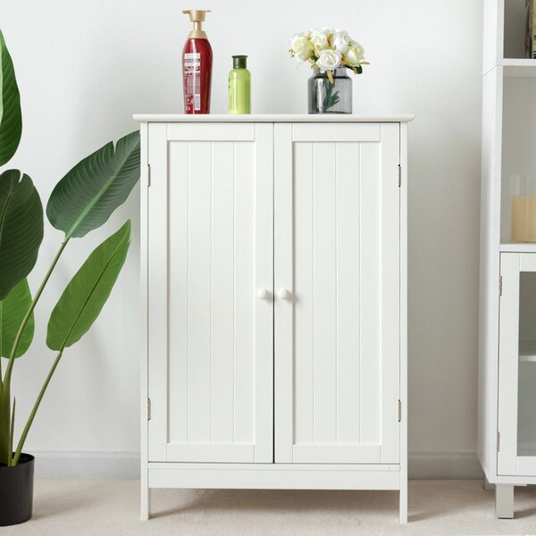 Bowyer 24'' W x 34'' H x 14'' D Free-Standing Bathroom Cabinet