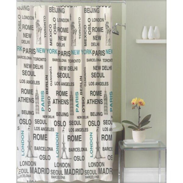 Izquierdo Around the World Canvas Fabric Shower Curtain by Latitude Run