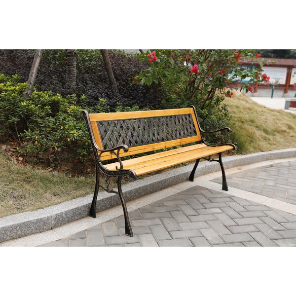 Sundberg Wooden Park Bench by Millwood Pines Millwood Pines