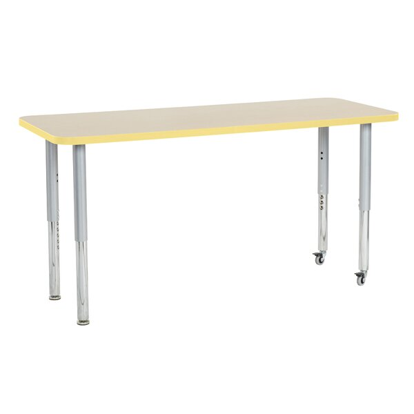Maple Contour Thermo-Fused Adjustable 24 x 60 Activity Table by ECR4kids