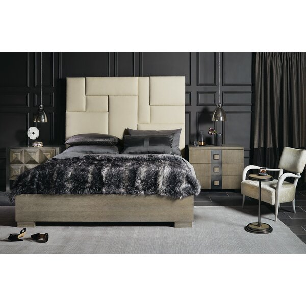 Mosaic Upholstered Bed by Bernhardt