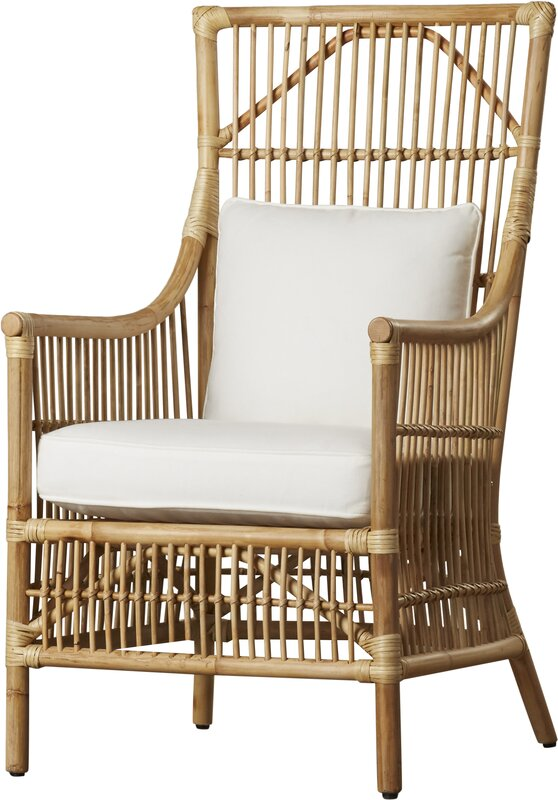 I love a seaside or nautical look in my space! I was trying to recreate a beautiful coastal living room and found tons of great sources for coastal chairs, in wicker, rattan, and upholstery options! These chairs would look great in a coastal living room, dining room, sitting room, or sunroom!