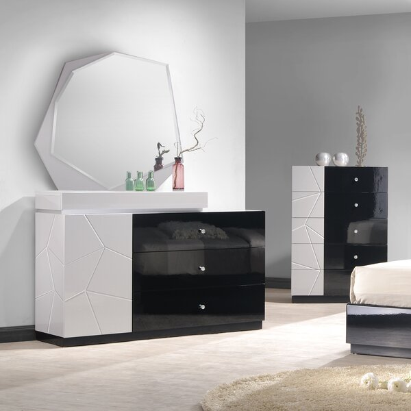 Astaire 3 Drawer Dresser with Mirror by Orren Ellis