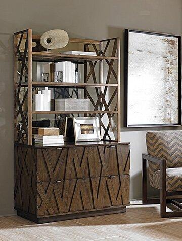 Cross Effect Standard Bookcase by Sligh