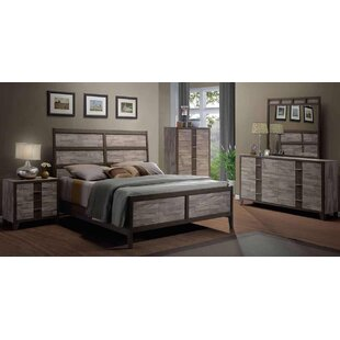 rodrigues melamine sleigh configurable bedroom set by union rustic - Rustic Bedroom