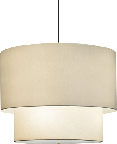 Double Drums 4-Light Candle Style Chandelier by ILEX Lighting