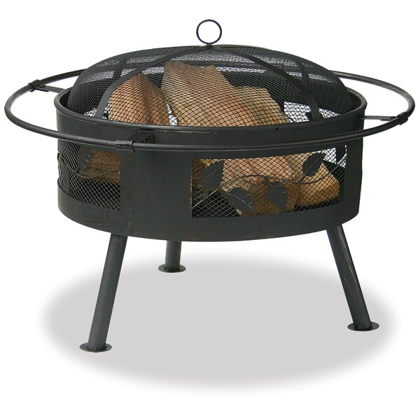 Stainless Steel Wood Burning Fire Pit by Uniflame Corporation