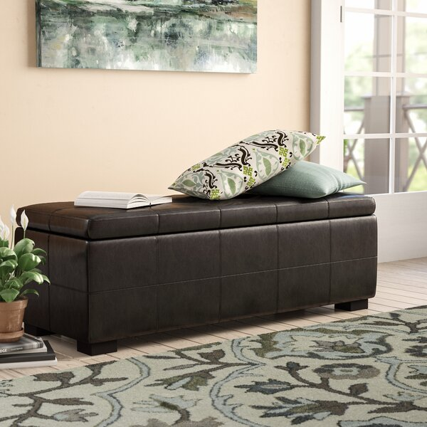 Mehaffey Faux Leather Storage Bench By Alcott Hill by Alcott Hill Cool