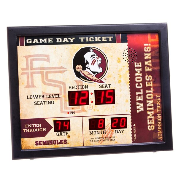 NCAA Bluetooth Scoreboard Wall Clock by Evergreen Enterprises, Inc