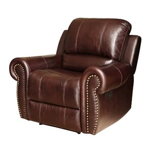 Darby Home Co Barnsdale Leather Manual Recliner Image