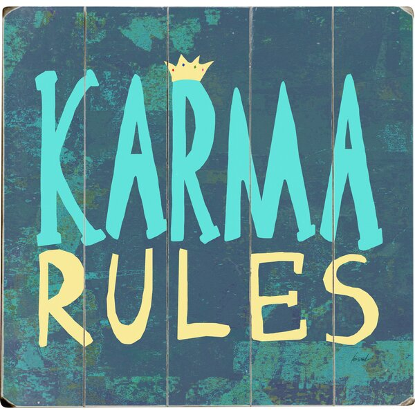 Karma Rules Graphic Art Multi-Piece Image on Wood by Artehouse LLC