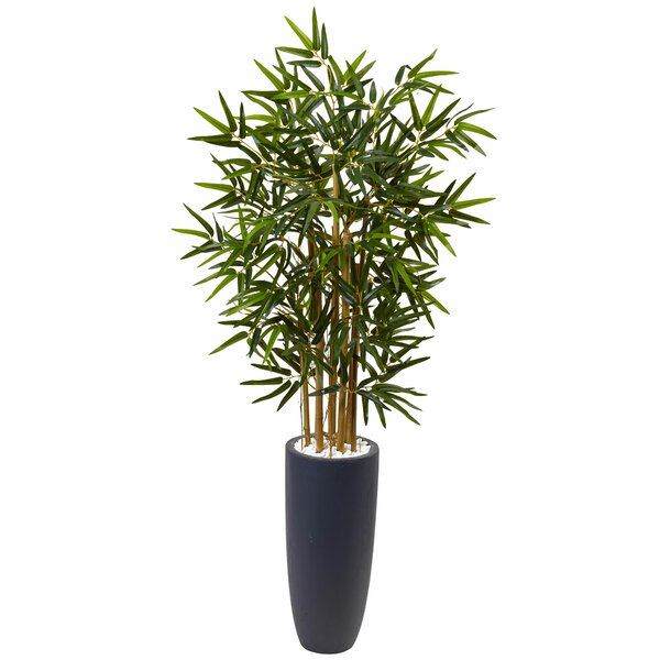 Artificial Floor Bamboo Tree in Planter by Bloomsbury Market
