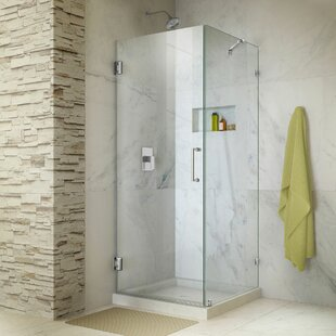 Shop For Unidoor Lux 30.38 x 72 Hinged Frameless Shower Door with Clear Max Technology By DreamLine